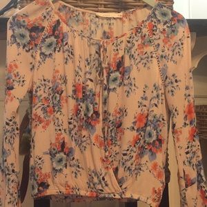 Lush Bell Sleeve Floral Blouse